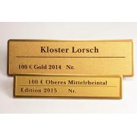 Wholesale Small Engraved Metal Name Plates Etched Brass Nameplates Oxidize Surface Silk Screen from china suppliers