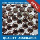 Wholesale hotfix metal rhinestud hotfix metal studs sixteen cut faces YX1135brown color from china suppliers