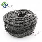 China Wholesale 3 Strand Twisted Black Split Film PP Rope 12mm Fishing Polypropylene Rope for sale