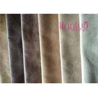 China Higher Grade Suede Sofa Fabric Tricot Bronzing And Printing Sense Gorgeous on sale