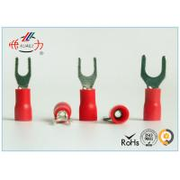 Wholesale Spade Fork Lug Plastic Crimp Insulated Wire Terminals SVL1.25-4 from china suppliers
