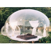 Wholesale 0.8mm clear PVC Inflatable Bubble Tent  with 2m tunnel from china suppliers