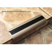 Wholesale Anodised Matt Champagne Aluminum Metal Stair Nose Moulding 35mm x 55mm TL30 from china suppliers