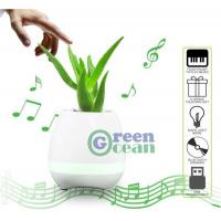 China Smart Music Flower Pot Play Piano Bluetooth Speaker LED Flowerpot for sale