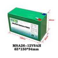 Wholesale Green 9Ah 12 Volt Lithium Battery Pack NCM/LiFePO4 For Smart Security Monitoring from china suppliers