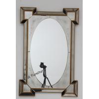 Vintage Hotel Wall Mirror , 120cm Gold Frame Decorative Wall Mirror Panels for sale