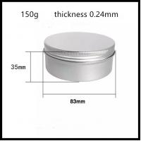Wholesale Silver Bottle Color Aluminium Cosmetic Jars , Aluminum Lip Balm Containers from china suppliers