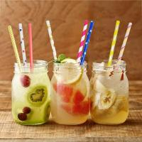 China FDA Approved Coloured Paper Straws Long Paper Straws For Drinking Cola on sale