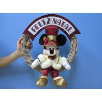 Wholesale Mickey Mouse Disney Plush Toys with Wreath / Christmas Holiday Stuffed Toys from china suppliers