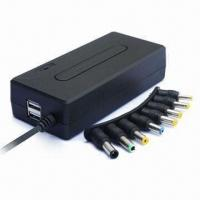 Wholesale 90W Compact Universal Notebook AC Adapter with Double USB 5V 1A from china suppliers