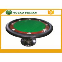 Best Classic 8 People 48'' Small Round Wooden Table One Steel Leg For Poker Game wholesale