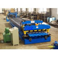Galvanized Step Glazed Tile Roll Forming Machine Electric Motor 0.40-0.70 mm Sheet Thickness