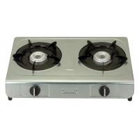 China Table Top Electric Ignition Gas Stove With 2 Burner Stainless Steel Panel on sale