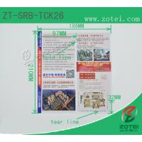 Wholesale RFID folding ticket ( Product model: ZT-SRB-TCK26) from china suppliers