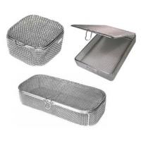 Fine Mesh Surgical Instrument Sterilization Containers Medical Basket / Tray for sale