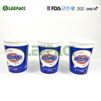 Wholesale Insulated Blue Drink 12 Oz Paper Cups For Fast Food Restaurant , Party from china suppliers