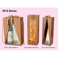 Wholesale Customized Wooden Wine Box, Wine Packaging Boxes Wrapped With Woodgrained Paper from china suppliers