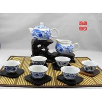 Wholesale Famous Chinese Blue And White Porcelain Tea Sets With 500ml Jingdezhen Teapot from china suppliers