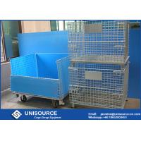 Wholesale 800 * 600 * 640 mm Steel Wire Cage Warehouse Cargo Storage For Racking System from china suppliers