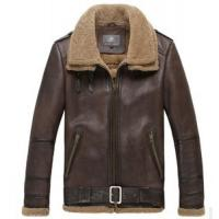 Wholesale Luxury safari double collar sheepskin fur leather men coat jacket from china suppliers