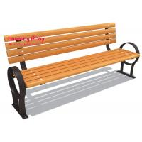 China Backyard Wooden Outdoor Park Benches With Back Element School Household Use for sale