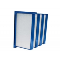 Wholesale Plastic Frame V Bank Pocket Air Filter Medium Efficiency 4500 m³/h Air Volume from china suppliers