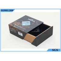 Grey Board Hard Gift Boxes Storage Double Drawer Design ISO9001 Certification