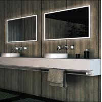 Wholesale framelss LED bathroom mirror, square lighted bathroom mirror from china suppliers