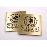 Wholesale Zinc Alloy Metal Name Plates Die Casting Engraved Carving Plated Antique Bronze from china suppliers