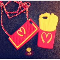 Wholesale Custom Slim Red McDonald Chips Silicone Cell Phone Case For Iphone4 / 4S from china suppliers
