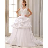 Wholesale Romantic Lace Cap Sleeve Halter Neck Wedding Dresses With Heart Shaped Bra from china suppliers