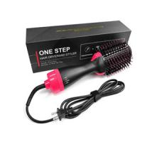 China Meraif electric hair curling brush,Professional electric dry iron 2 in1 hair brush Styler on sale