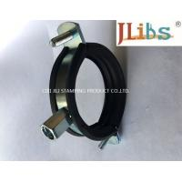 Cast Iron Pipe Round Pipe Clamps Gi Pipe Clamp With M8 M10 Combi Nut And Rubber And Bolt