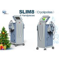 China 1200 W Non Invasive Cryolipolysis Machine Fat Freezing For Body Slimming with 2 Cryolipolysis handle on sale