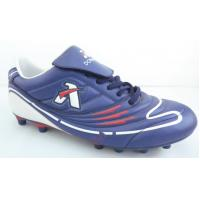 Wholesale Customization PU Mens Football Boots / purple Indoor Turf Soccer Shoes from china suppliers