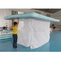 Wholesale 1000D Inflatable Water Games Netting Enclosure Floating Swimming Pool from china suppliers