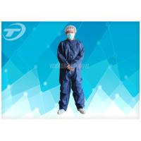 Wholesale PE Coated White Disposable Coverall Suit / Disposable Protective Suits For Men S To 5XL from china suppliers