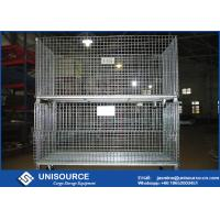 Wholesale Durable Welded Steel Wire Storage Cages , Industrial Stackable Pallet Cages from china suppliers