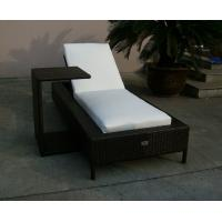 China Folding Beach Lounge Chair , Outdoor Garden Wicker Chaise Lounge on sale