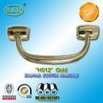 Best Size 18.7*7.6 cm Casket Hardware metal coffin handle Ref No H012 zinc alloy gold color wholesale