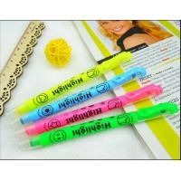 Wholesale Double Ended Highlighter Pen WIth Stamp , Multi Colored Highlighters from china suppliers
