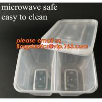Wholesale Disposable Plastic 4 Compartment Food Thermal Lunch Container Box,Plastic Takeaway Food Box with conjoined cover bagease from china suppliers