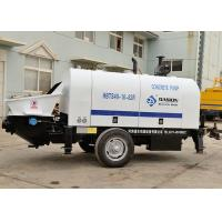 China Compact Trailer Concrete Pump , 40m3/H Diesel Engine Type Reed Concrete Pump on sale