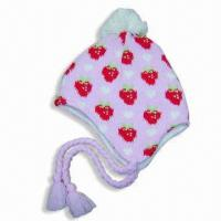 Wholesale Acrylic Jacquard Hat with Fleece Lining from china suppliers