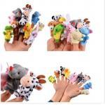 China Soft Plush Animal Finger Puppets Story Time Velvet for Toddlers 10pcs for sale