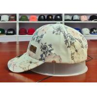 Wholesale Customized Colors Chinese Style ACE Flower Printed Logo 6panel metal patch Baseball Sport Caps Hats from china suppliers