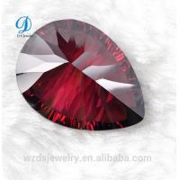 high quality Wuzhoy pear cut synthetic cubic zirconia cz gemstone for jewelry for sale