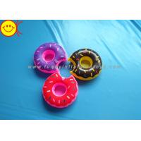 Best Mini Delicious Food Inflatable Toys Donut Cup Holder for Party Fun / Bath Time wholesale