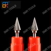 China BMR TOOLS Carbide Burrs Type M Cone Bur with 6mm shank working on metal on sale
