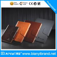 Wholesale Artwork embossed discolor journar leather notebook from china suppliers